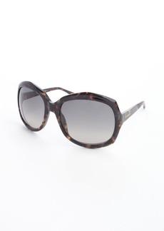 Yves Saint Laurent brown acrylic oversized rectangle frame sunglasses