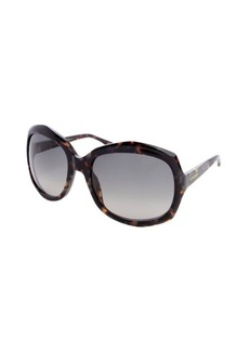 Yves Saint Laurent brown acrylic oversized rectangle frame sunglasses