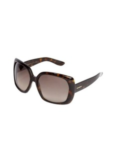 Yves Saint Laurent brown havana tortoise print acrylic oversized 'JJ' sunglasses