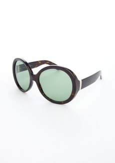 Yves Saint Laurent dark havana brown acrylic oversized sunglasses