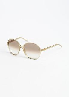 Yves Saint Laurent dark yellow acrylic oversized round frame sunglasses