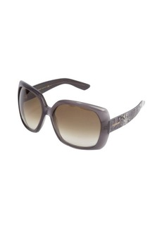 Yves Saint Laurent grey python acrylic oversized 'JJ' sunglasses