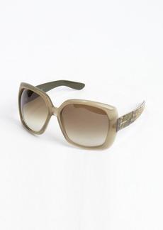 Yves Saint Laurent military green python acrylic oversized 'JJ' sunglasses