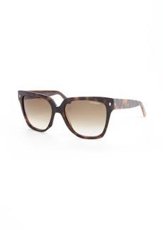 Yves Saint Laurent tortious printed acrylic rectangle frame sunglasses