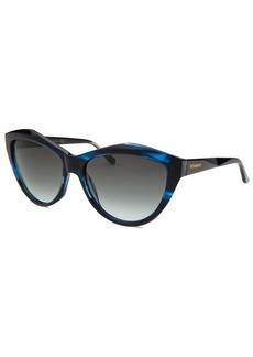 Yves Saint Laurent Women's Cat Eye Blue Melange Sunglasses