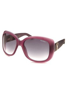 Yves Saint Laurent Women's Oversized Translucent Violet Sunglasses