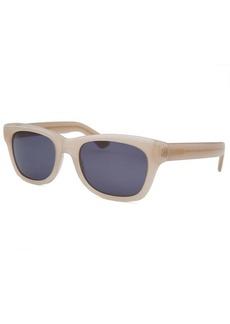 Yves Saint Laurent Women's Rectangle Opaque Beige Sunglasses