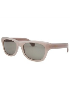 Yves Saint Laurent Women's Rectangle Opaque Light Grey Sunglasses
