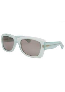 Yves Saint Laurent Women's Rectangle Translucent Light Green Sunglasses