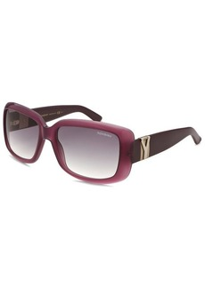 Yves Saint Laurent Women's Rectangle Translucent Violet Sunglasses