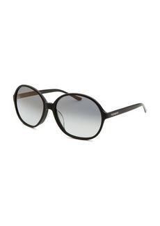 Yves Saint Laurent Women's Round Black Sunglasses