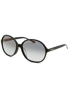 Yves Saint Laurent Women's Round Black Sunglasses