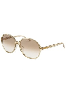 Yves Saint Laurent Women's Round Translucent Light Green Sunglasses