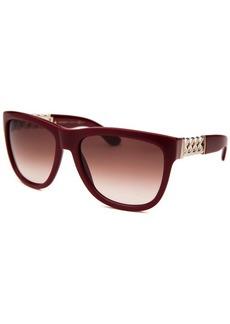 Yves Saint Laurent Women's Square Burgundy Sunglasses