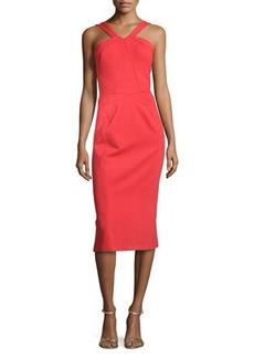 Zac Posen Binding Halter Knee-Length Dress, Grenadine