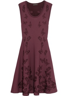Zac Posen Butterfly-jacquard jersey dress