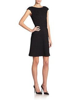 Zac Posen Cap-Sleeve Fit-&-Flare Dress