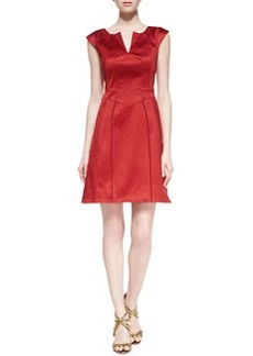 Zac Posen Cap-Sleeve Stretch-Cotton Dress