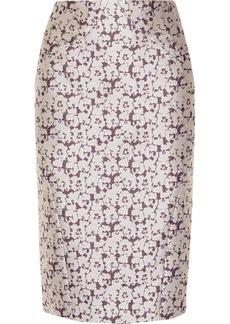 Zac Posen Embroidered brocade skirt