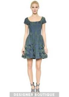 Zac Posen Jacquard Circle Dress