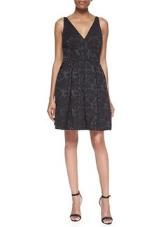 Zac Posen Jacquard Fit-and-Flare Dress