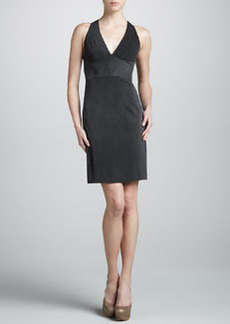 Zac Posen Jersey Halter Dress, Washed Black
