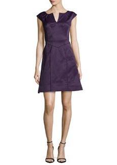 Zac Posen Keyhole-Neck A-Line Dress, Dark Lavender