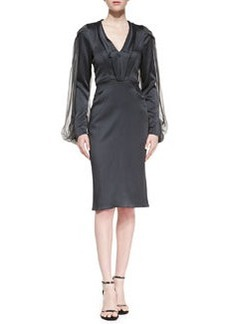 Zac Posen Long-Sleeve Cocktail Dress
