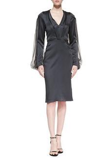 Zac Posen Long-Sleeve Cocktail Dress