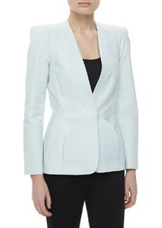 Zac Posen One Button Jacket, Ice Gray