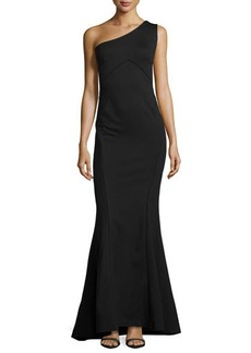 Zac Posen One-Shoulder Mermaid Gown, Black