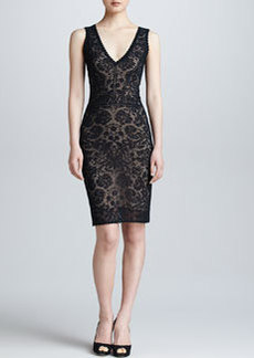 Zac Posen Sleeveless Lace V-Neck Dress
