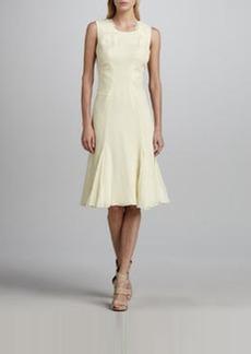 Zac Posen Sleeveless Pintucked Chiffon Dress