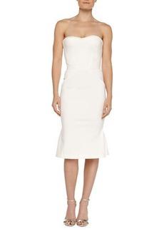 Zac Posen Strapless Bustier Dress, Ivory