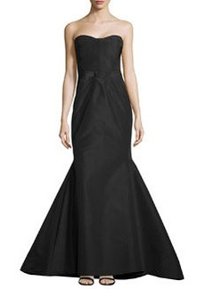 Zac Posen Strapless Sunburst Mermaid Gown, Midnight