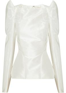 Zac Posen Structured silk-taffeta top